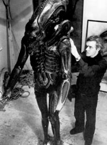 Giger trabajando en Alien