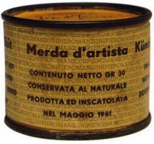 Una de las latas de Mierda de Artista. Algunas de ellas reventaron debido a los gases.