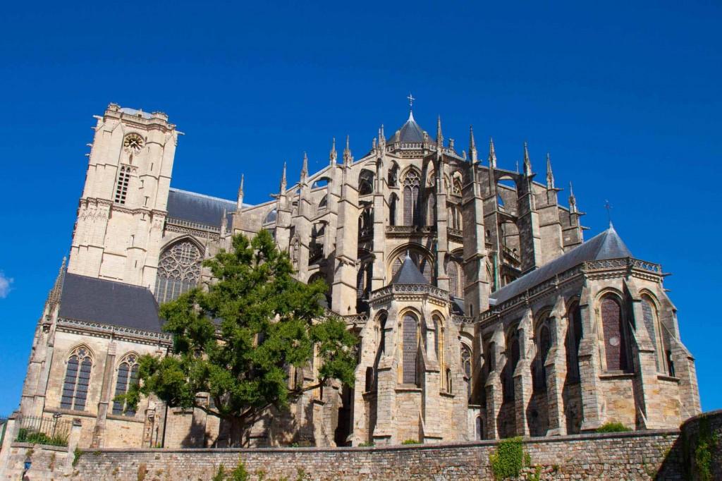 Exterior de la catedral de Le Mans