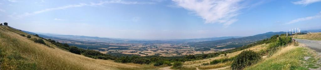Impresionantes las vistas desde el Monte del Perdón